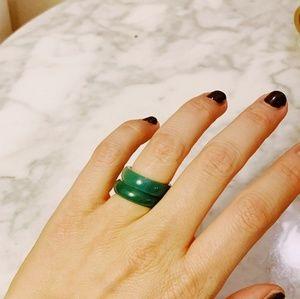 Jewelry - Jade stacking ring. Jadite solid jade ring